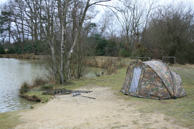 Ready and waiting for Mr Carp